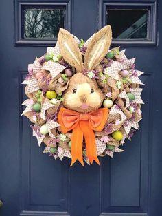 Bunny Wreath Easter,  Spring