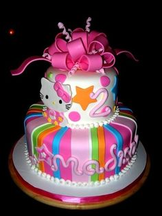 I'm not a huge Hello Kitty fan but this cake is cute, minus the kitty. Or maybe with a different cat Lol