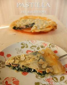 Pastilla au saumon - Torta rustica con pasta filo ripiena di spinaci e salmone