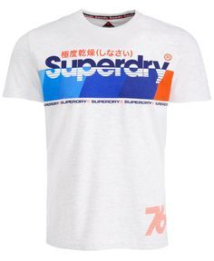 Superdry Men's 76 Graphic T-Shirt - Ice Marl Boys Shirts, Tee Shirts, Slogan, Superdry Mens, Line Shopping, Graphic Shirts, Baby Clothes Shops, Tshirts Online, Moda Masculina