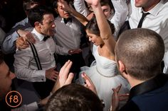 Katherine + Michael January Wedding | Jewish Horah Wedding Dance | Carter Rose Photography @f8studiowedding