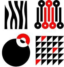 Black And White Infant Visual Development Stimulation Card