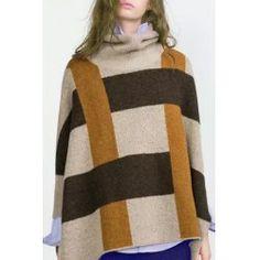 Stylish Turtle Neck Side Slit Long Sleeve Sweater For Women