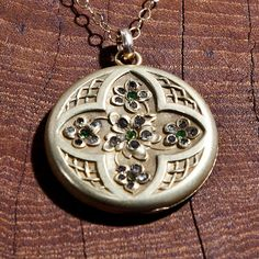 1900's Art Nouveau Flower Locket Necklace