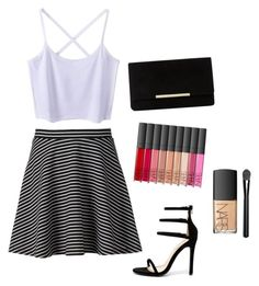 """Night out"" by alexxshaw45 ❤ liked on Polyvore featuring Apt. 9, Dune, Liliana and NARS Cosmetics"