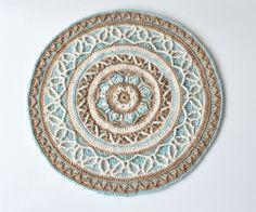 PATROON - ronde haak mandala met kabels - overlay haak - tabel en muur decoratie - direct downloaden