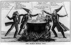 In this 1850 political cartoon, the artist attacks abolitionist, Free Soil, and other sectionalist interests of 1850 as dangers to the Union.