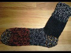Sock with heel and toe on addi - YouTube