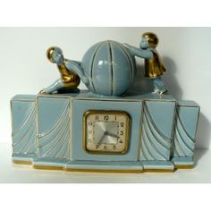 Chiming clock 2 Children with a Ball ART DECO