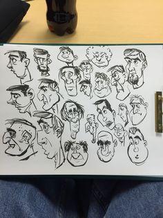Pentel brush pen character design faces