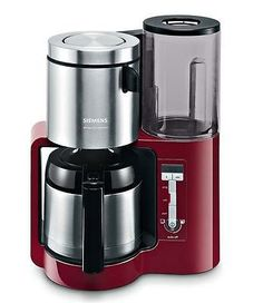 Siemens TC86504 Thermo   Kaffeemaschine 8 Tassen Cranberry Red