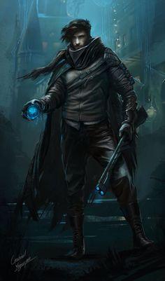 Rogue Character Concept, Gabriel Yeganyan on ArtStation at https://www.artstation.com/artwork/rogue-character-concept