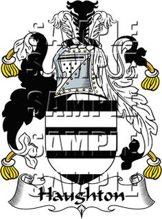 Haughton Family Crest apparel, Haughton Coat of Arms gifts
