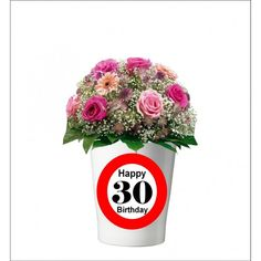 133 -  Geburtstagsgeschenk 30 Pflanzentopf ohne Pflanze Happy 30th Birthday, Mugs, Tableware, Plants, Gifts, Dinnerware, Tumblers, Tablewares, Mug