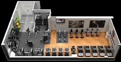 small fitness center layout - Google Search