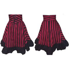 Lolita Doll Corset Style Striped Mini Skirt ($80) ❤ liked on Polyvore
