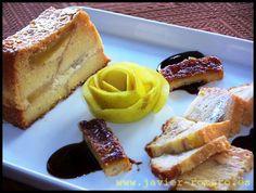 Púdin de manzana y bizcochos de soletilla (o magdalenas, pan de molde, o cualquier otro pan que haya sobrado).