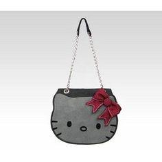 Sanrio Hello Kitty Grey Suede & Tweed Die Cut Face Bag at Sears.com