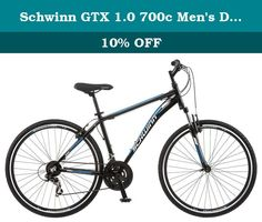 Schwinn GTX 1.0 700c Men's Dual 18 Sport Bike, 18-Inch/Medium, Black. Enjoy riding again on the comfort of a Schwinn. This is a multi-sport hybrid style bike which means it can be everything you want it to be, and more! Ride it around the neighborhood with the kids, take it to the store to grab sandwiches, or take a day trip with your pals. The Schwinn GTX 1 is up for anything. Featuring 21 speeds with a Shimano derailleur, versatile tires and a front suspension fork to help you take the...