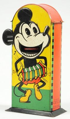 1930s Mickey Mouse tin bank