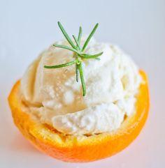 Honey Orange Rosemary Ice Cream - Sprinkled with Flour