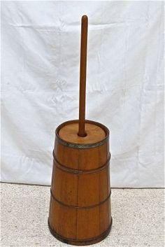 Wooden antique butter churn