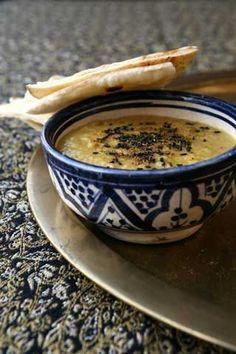 Zuppa di ceci con cumino e limone