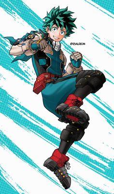 Deku by Zialron on DeviantArt My Hero Academia Episodes, My Hero Academia Memes, Hero Academia Characters, My Hero Academia Manga, Anime Characters, Anime Figures, Anime Backgrounds Wallpapers, Cute Cartoon Wallpapers, Hero Manga
