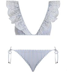bc042a3890 ZIMMERMANN Meridian Stripe Tri Bikini ( 225) ❤ liked on Polyvore featuring  swimwear