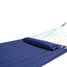 Hammock Outdoor Quilted Cotton Fabric Beach Rope Hammocks Swing Bed Back Yard with Pillow New Sea Navy Blue * This is an Amazon Associate's Pin. Find the item on Amazon website by clicking the VISIT button.