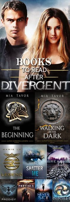 Books to read after Divergent. Ya Books, I Love Books, Book Club Books, Book Lists, Good Books, Books To Read, Book Suggestions, Book Recommendations, Book Memes