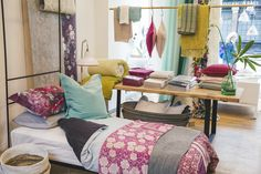Designers Guild Kings road store, bedlinen range