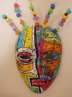 Picasso Masks-art project: This could be a fun take on creating a Picasso project using my Roll-A-Dice Game. #art