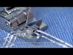 Prensatela para colocar cordones - maquina de coser singer - ventas en ... Sewing Lessons, Sewing Hacks, Sewing Tutorials, Sewing Ideas, Edge Stitch, Diy Clothes, Youtube, Fabric, Pattern