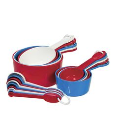 This Red & Blue Measuring Cup & Spoon Set by Progressive is perfect! #zulilyfinds