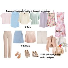 summer capsule wardrobe column of colour by imogenl on Polyvore featuring Lela Rose, Topshop, Equipment, Uniqlo, Aniye By, Object Collectors Item, Monki, J.TOMSON, Emilio Pucci and J.Crew