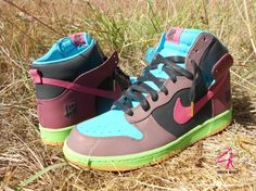 nike dunk high undefeated customs 05 570x427 Nike Dunk High UNDFTD Customs by Zadeh Kicks