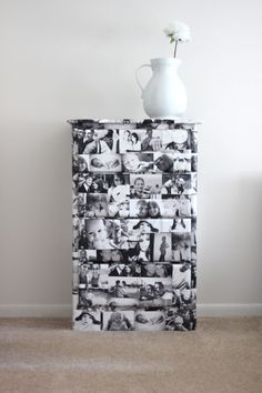 I want to make this for our bedroom (but with sepia photos)!