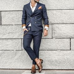 Polka dot suit and #monkstrap shoes by @tonyvoltaire  [ http://ift.tt/1f8LY65 ] tag #royalfashionist