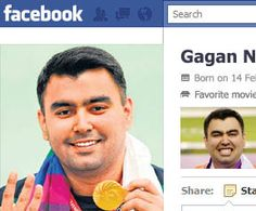 Minutes after Gagan Narang opened India's medal tally at the 2012 London Olympics, congratulatory (sometimes of a cryptic nature) messages began to pore in on the ace shooter's Facebook wall. The Unreal Times presents a few snapshots that vividly capture the joy of the nation: (Wait for the image to load)