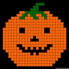 Halloween pumpkin perler bead pattern