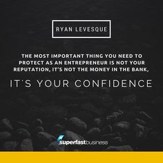 """""""...because once you lose that you lose everything else."""" - Ryan Levesque  Double tap if you agree!  #SuperFastBusinessPodcast #SuperFastBusiness http://www.superfastbusiness.com/"""