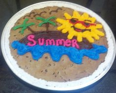 Summer Time!   #nestle #nestletollhousecafe #nestletollhouse #cookie #cake #cookiecake #yum