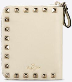 Valentino Rockstud Wallet in White (Ivory)