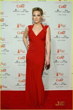 Hilary Duff: Lady in Red!