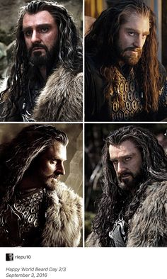 Richard Armitage as Thorin Oakenshield in The Hobbit Trilogy (2012-2014) Fan Art Collage