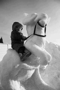 Snow tauntaun. Awesome.