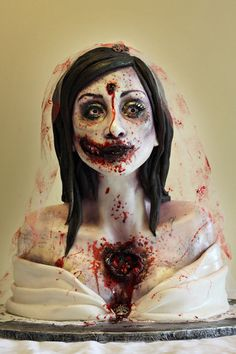 Yes I went there, a zombie bride cake.