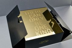 Puma King Lux Limited Edition packaging by Everyone Associates