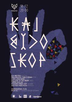 Aleksandra Niepsuj, kalejdoskop graphic design, poster design, design graphic, aleksandra niepsuj, posters, typograph poster, graphic poster, baubauhaus, typographi